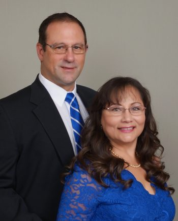 Photo of the Commodore and his wife, CJ Volesky and Roxana Alviar Volesky